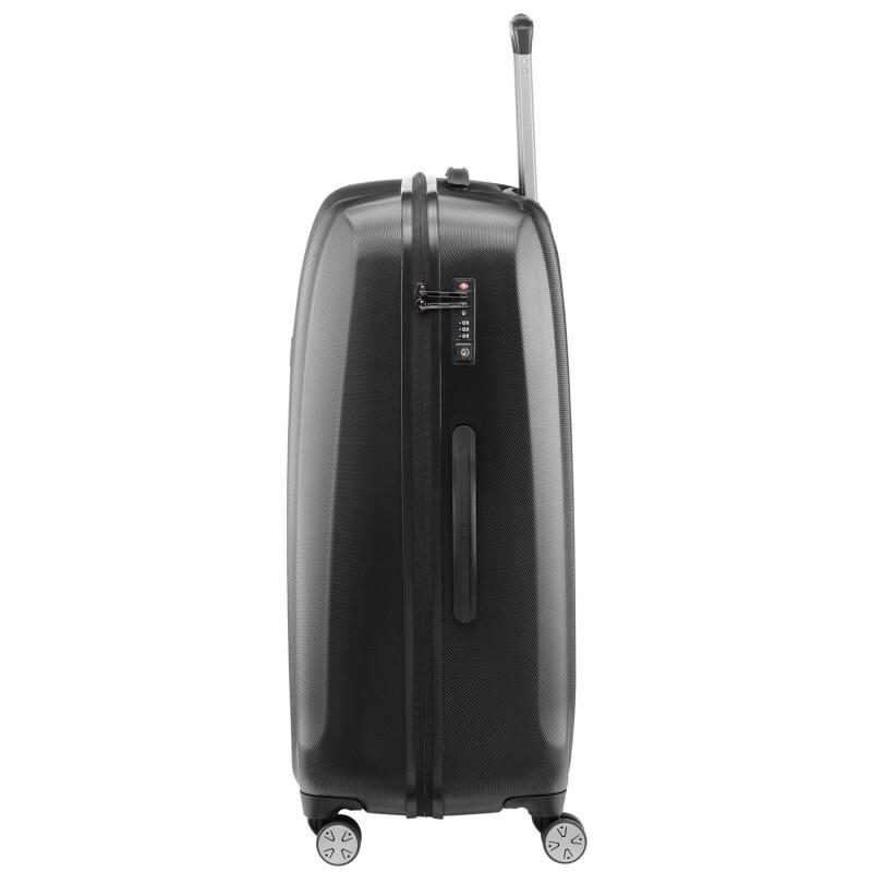 titan koffer trolley xenon polycarbonat black gr e large. Black Bedroom Furniture Sets. Home Design Ideas