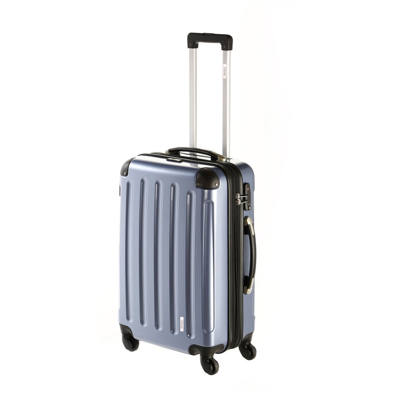 INVIDA 4w Trolley NEW YORK  mit TSA-Schloss BLAU als SET BS/L/XL