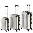 INVIDA 4w Trolley NEW YORK  mit TSA-Schloss SILBER in...