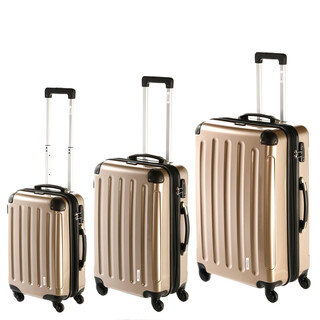 INVIDA 4w Trolley NEW YORK  mit TSA-Schloss GOLD Boarding Size