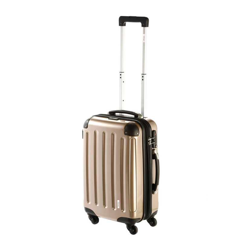 INVIDA 4w Trolley NEW YORK  mit TSA-Schloss GOLD als Set