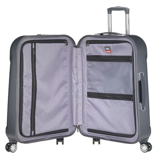 TRAVELITE ELBE TWO 4 Rollen Koffer Trolley Hartschale ANTHRAZIT in MEDIUM