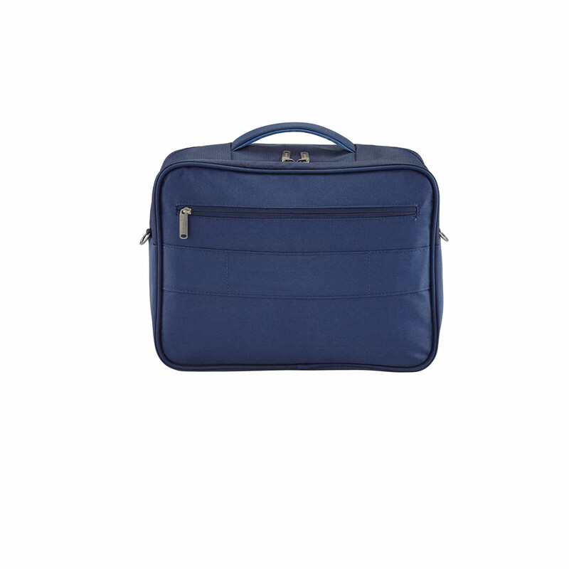 TRAVELITE CAPRI Trolley MARINE in BORDTASCHE quer