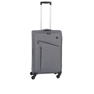 CHECK IN LISSABON Trolley 4w M 70cm Grau/Schwarz